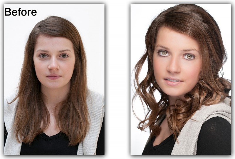 Portrait Photography, Chloe's before and after pictures