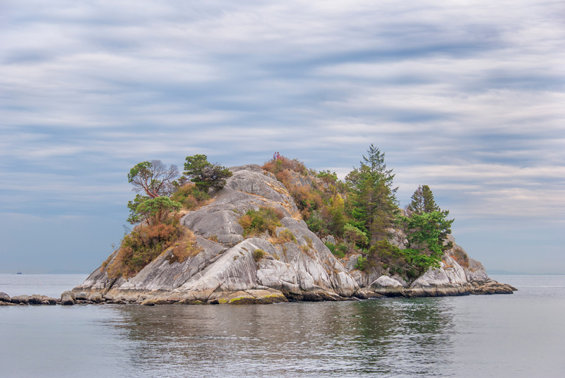 Whyte Islet from the swimming beach at Whytecliff Park