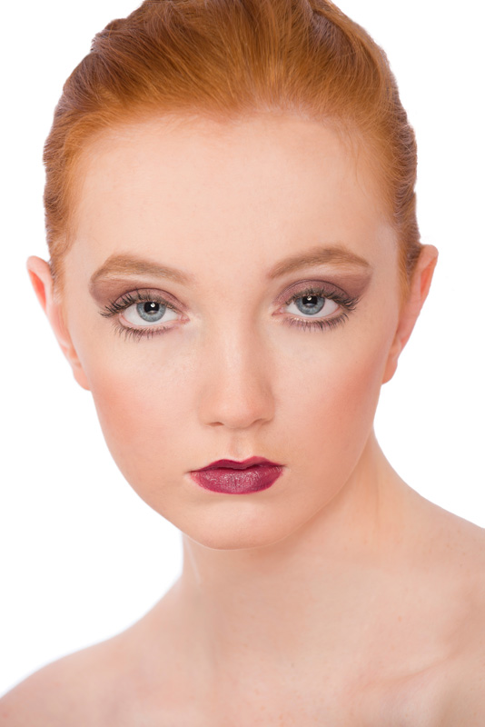 Rebecca from Superior Model Management beauty portrait with heavier makeup