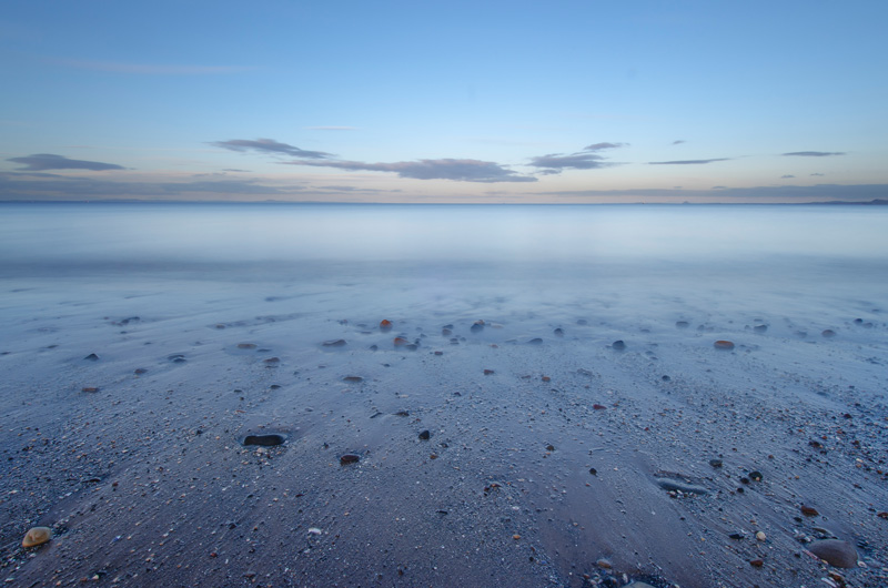 Firth of Forth long exposure from Portobello beach, Edinburgh