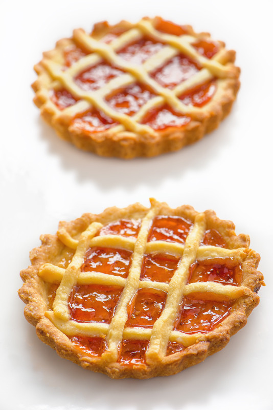 Tarts on a white background