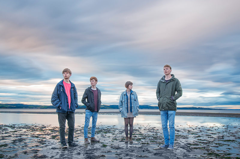 Manchester based band at Silverknowes beach, Edinburgh