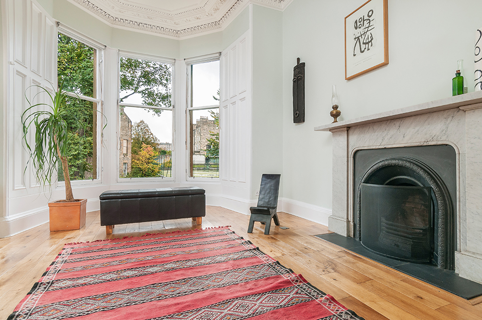 Living room in Stockbridge, Edinburgh